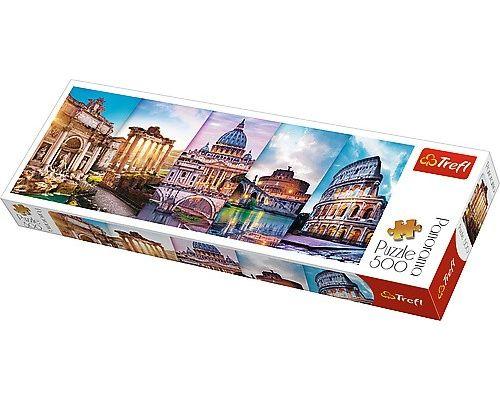 Traveling to Italy Trefl Puzzle Panorama 500 660x237 (29505)