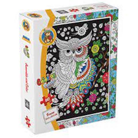 Coloring Puzzle Owl60 Pieces30 x 38 cm CLR-7008