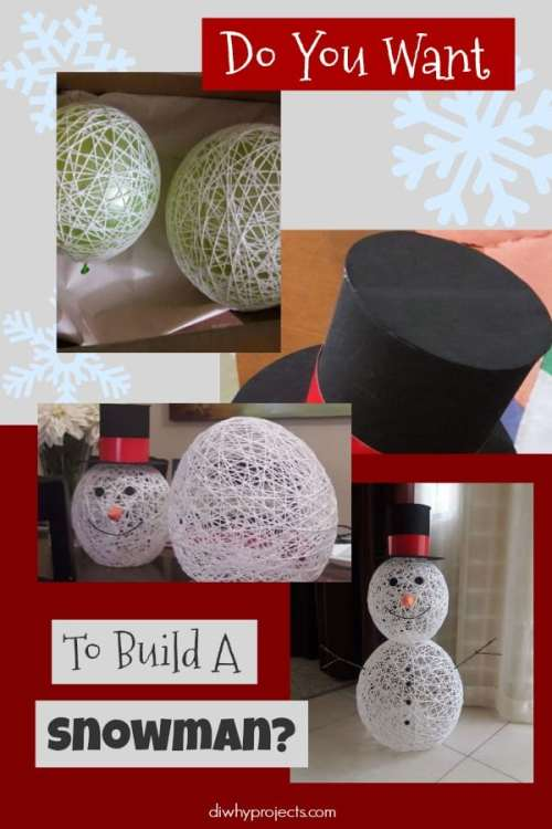 Yarn Wrapped Snowman Tutorial