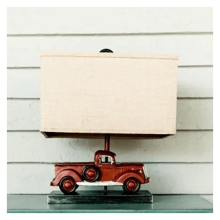 Rustic Red Truck Table Lamp