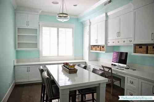 clean look craft room idea