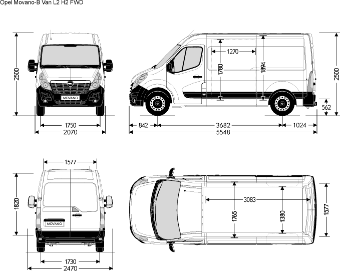 Dimension Opel Vivaro. the gallery for vauxhall vivaro