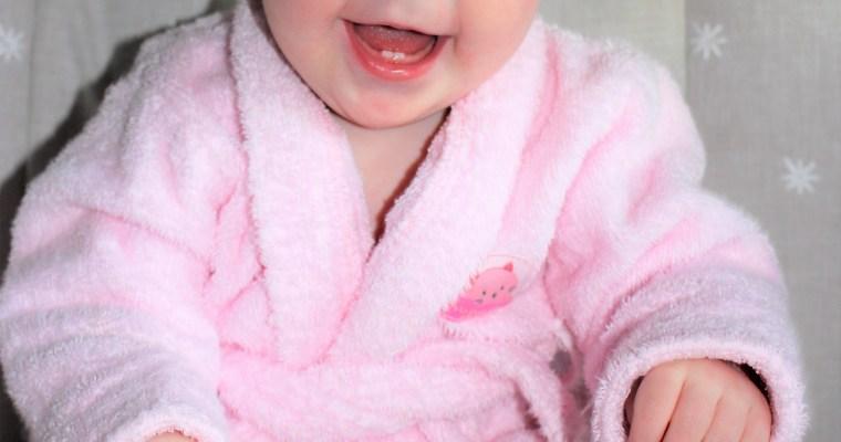 Baby in a Bathrobe