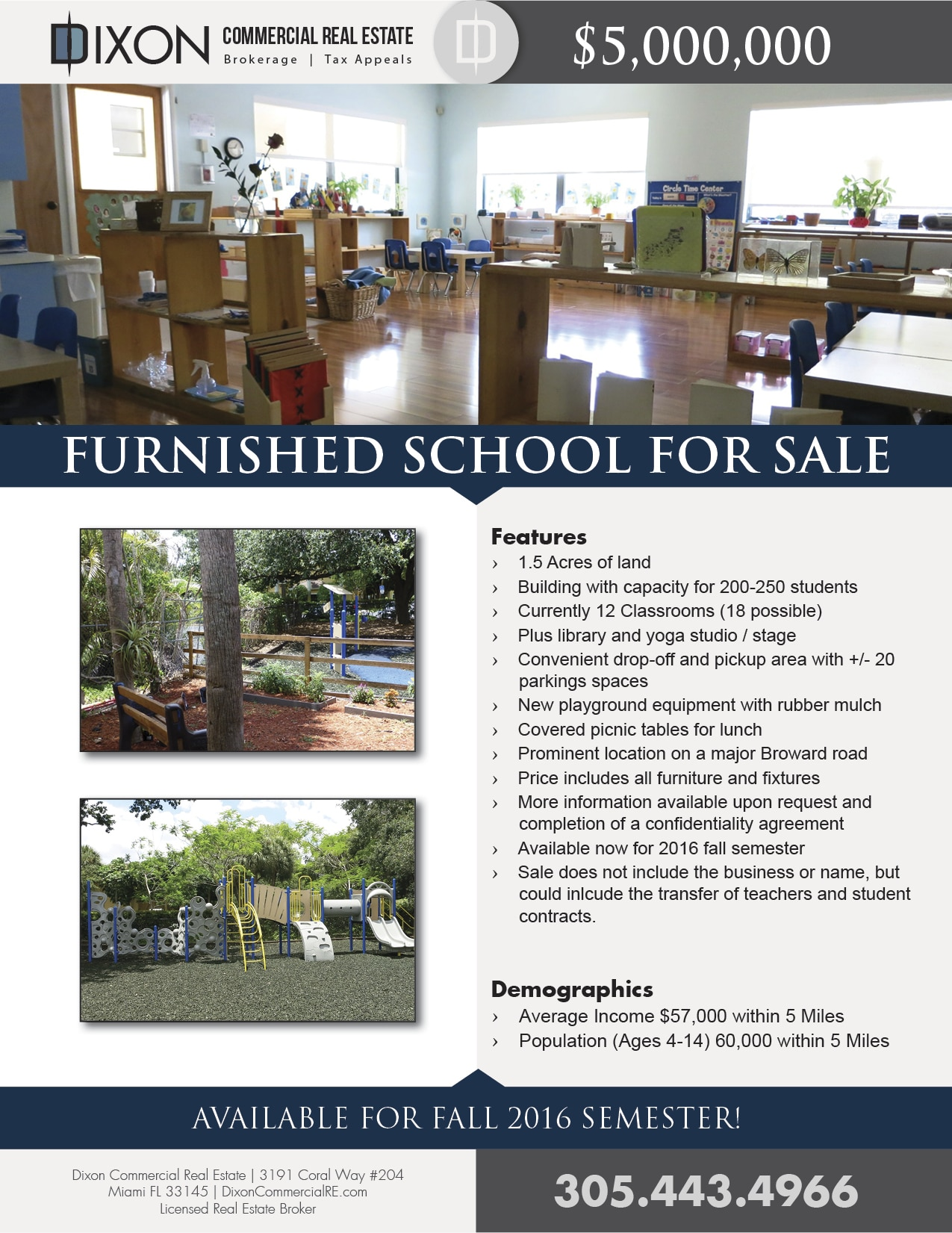 School Flyer - FALL 2016