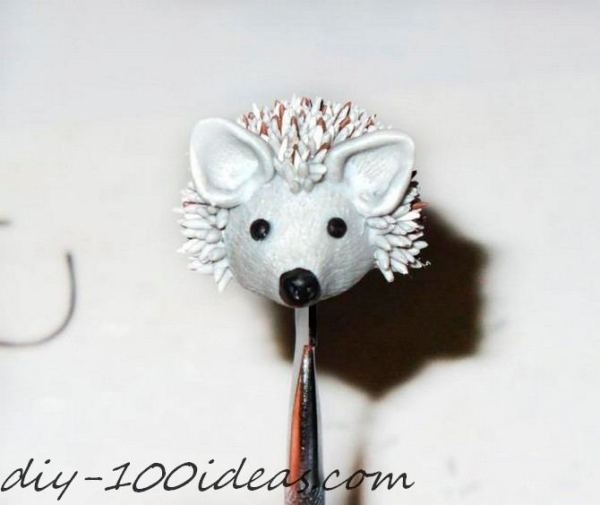 Polymer clay hedgehog TUTORIAL (26)
