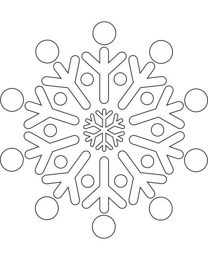 Copos De Nieve Coloring Pages