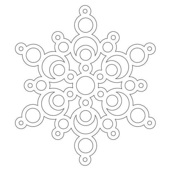 Snowflake stencil (20)