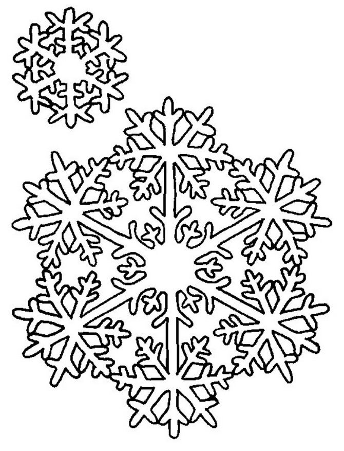 Current image in printable snowflake stencils