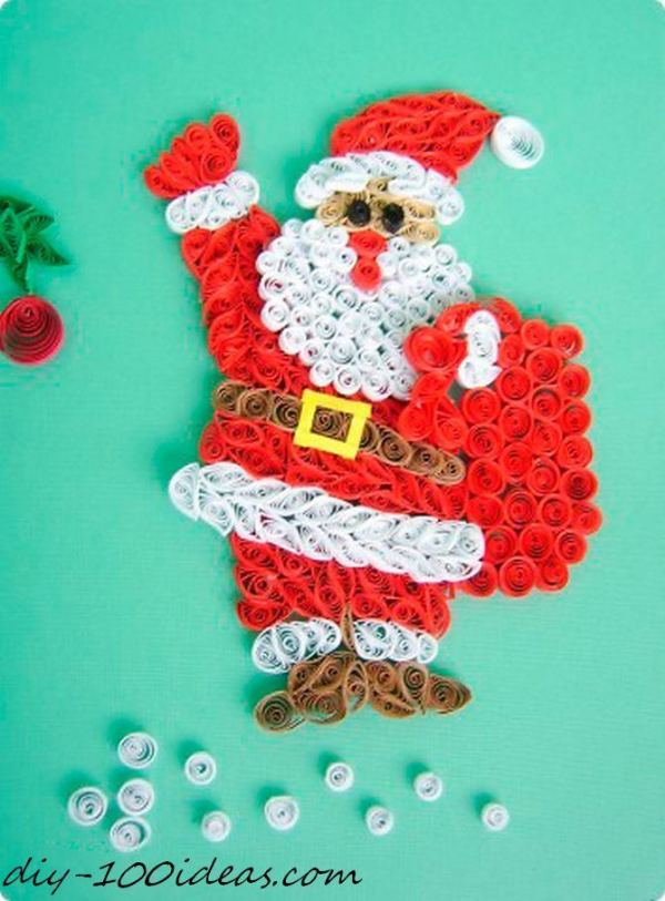 Quilling Christmas Card (17)
