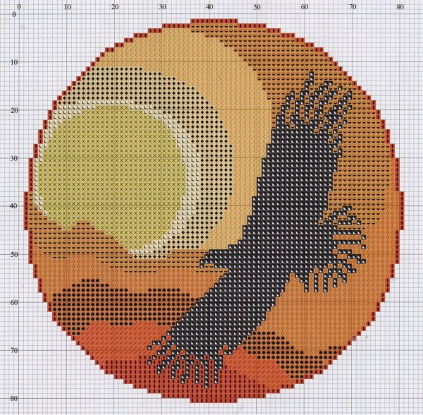 Free cross stitch pattern Dreamcatcher (6)