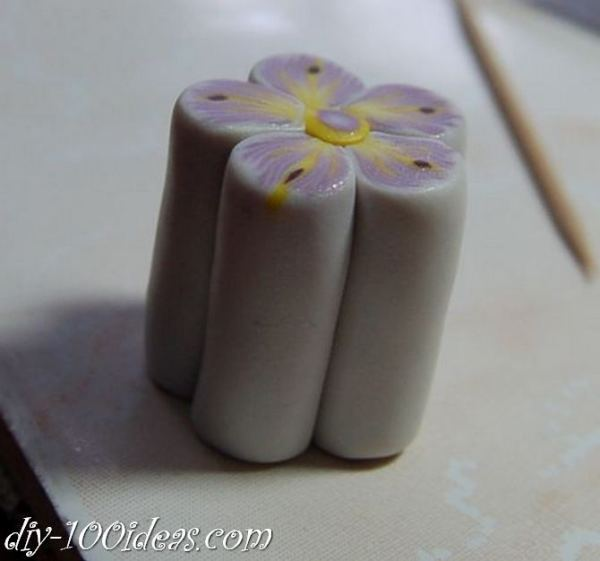 Polymer Clay Flower Petal Cane Tutorial (24)