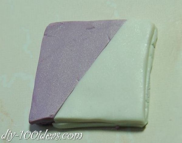 Polymer Clay Flower Petal Cane Tutorial (6)