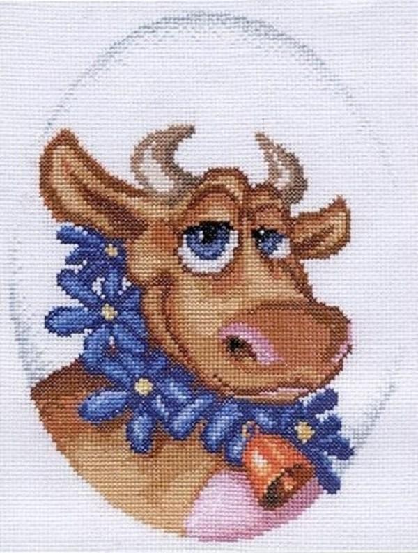 cross stitch cow pattern free (2)