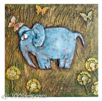 DIY Elephant Wall Art | DIY 100 Ideas