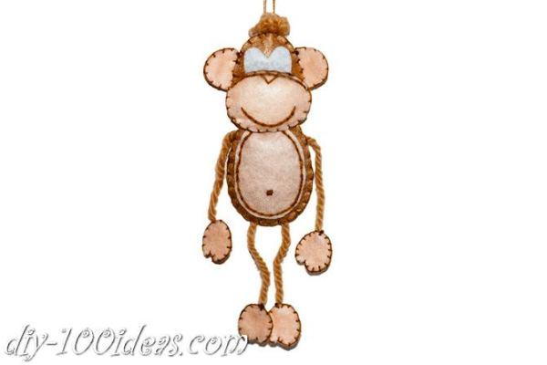 Felt monkey  (10)