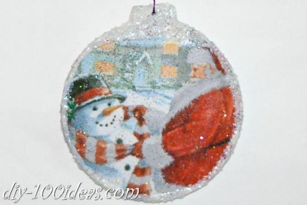 ball Christmas ornament crafts (27)