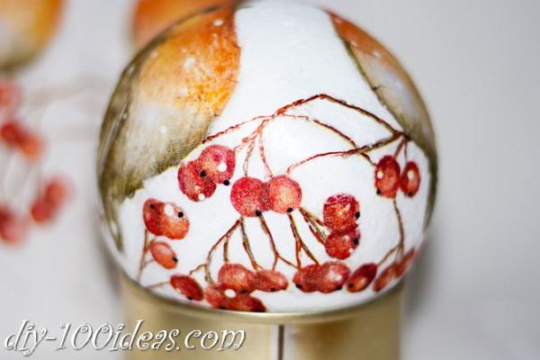 ball Christmas ornament crafts (4)
