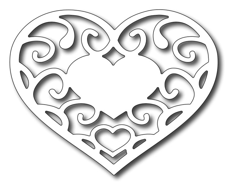 Astounding image within printable heart stencils