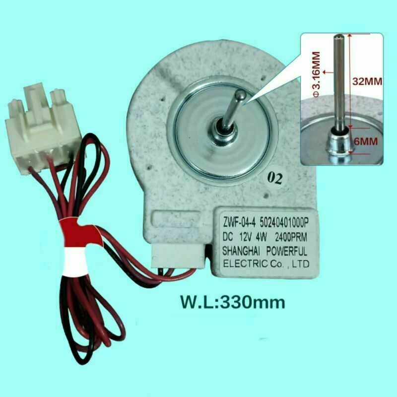 For Midea Refrigerator BCD-330WTV Freezing Fan Motor ZWF-02-4 Replacement Parts