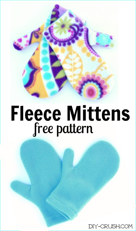Handmade Mittens - Sewing tutorial & pattern - YOU MADE MY