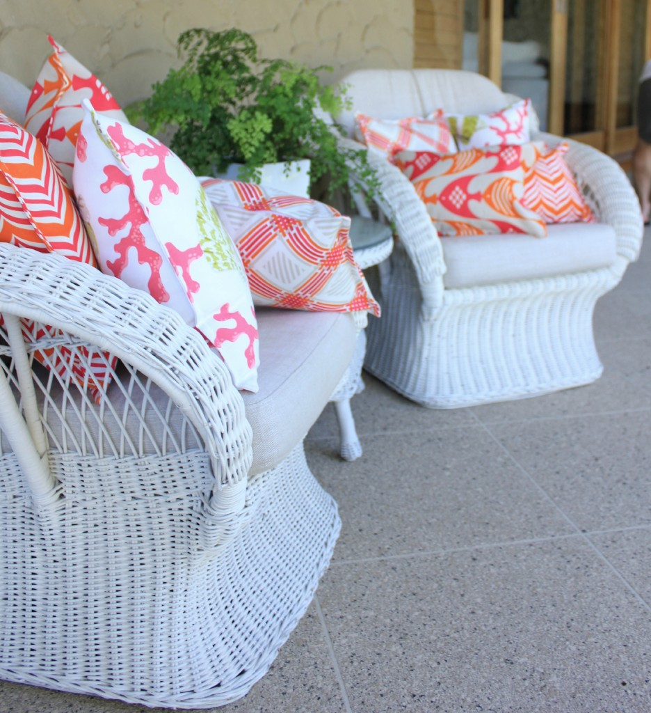 Bungalow Living Outdoor Cushions Wicker Chair