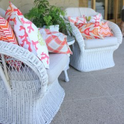 Diy Wicker Chair Cushions Overstuffed Leather Bungalow Living Outdoor Decorator
