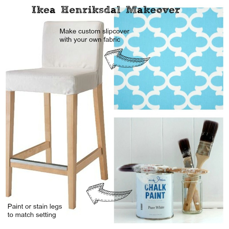Makeover Ikea breakfast bar stool