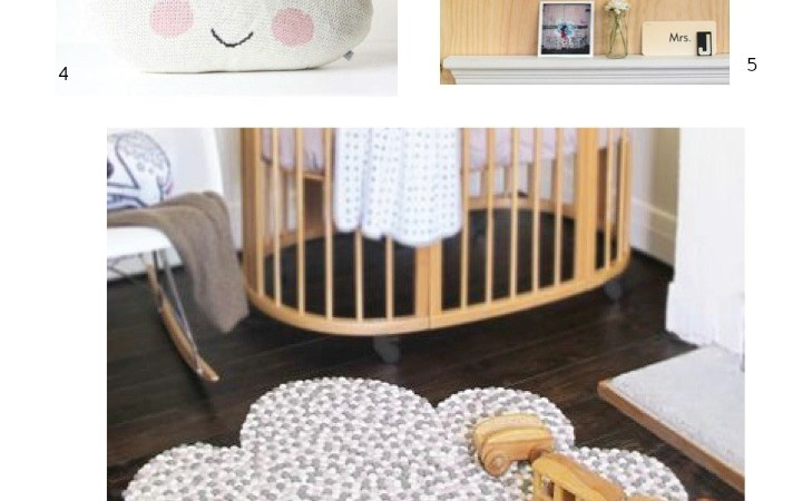 Cloud decor kids room