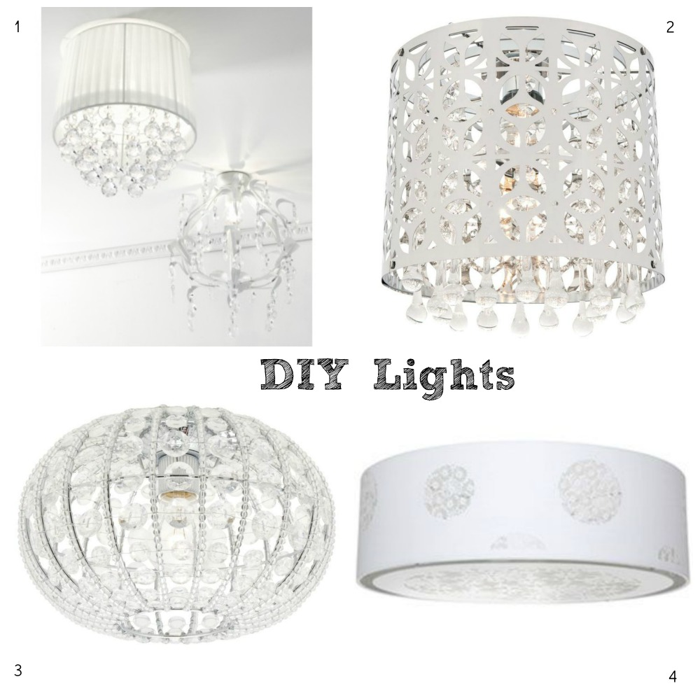 White DIY Lights