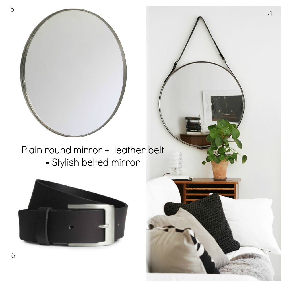DIY Belt Mirror