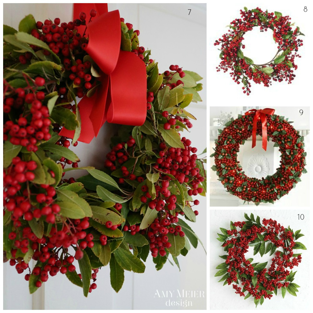 Red berry Christmas wreaths