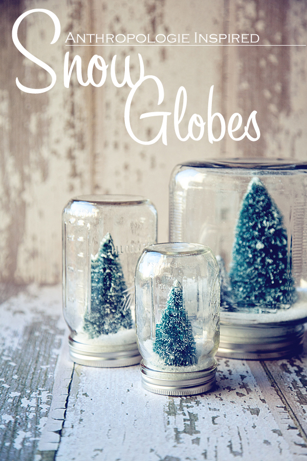 DIY Christmas Decorations Snow Globes