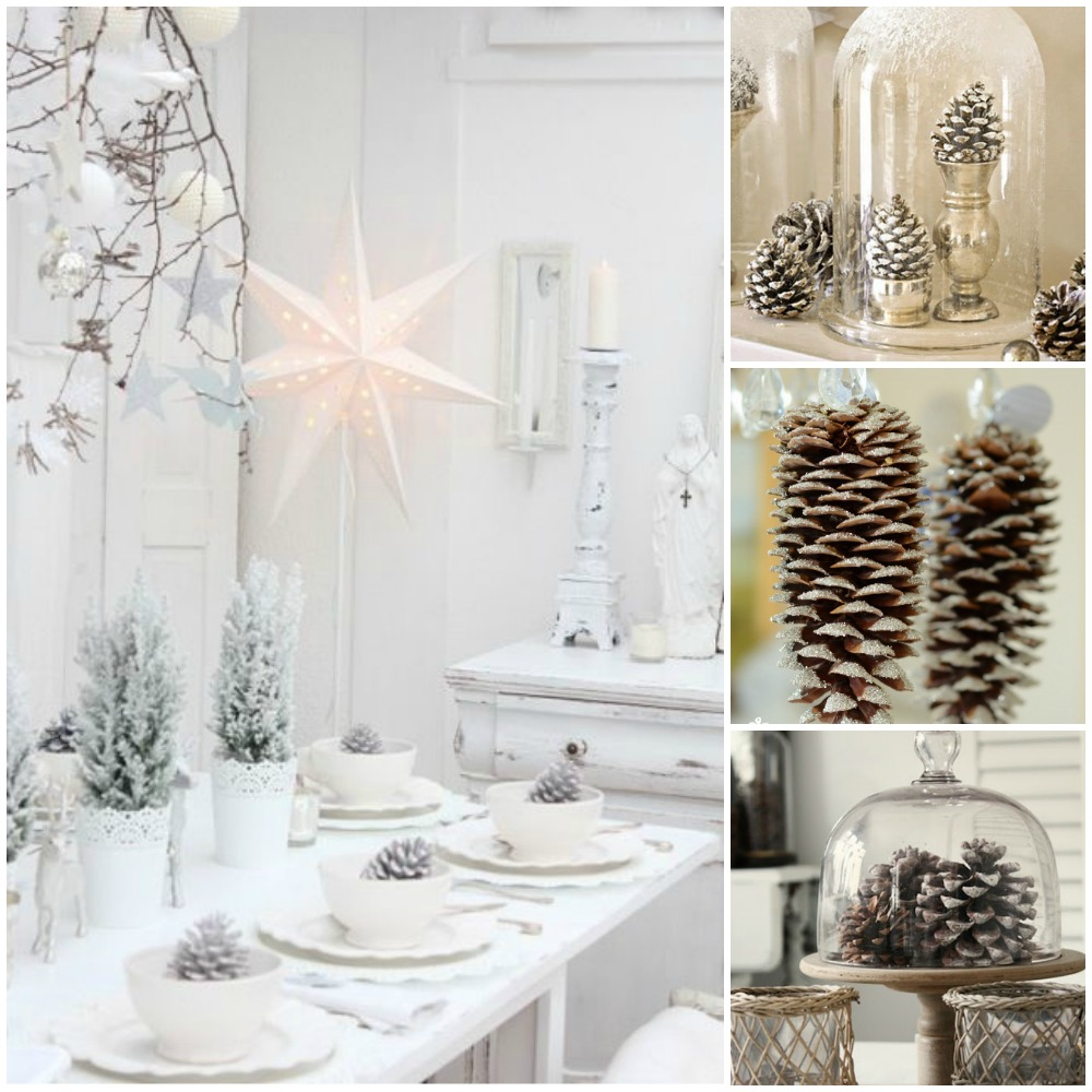 christmas decorating ideas budget pinecones
