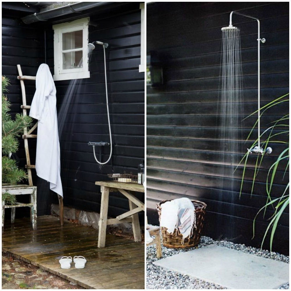 Outdoor showers diy decorator for Diy outdoor shower surfboard