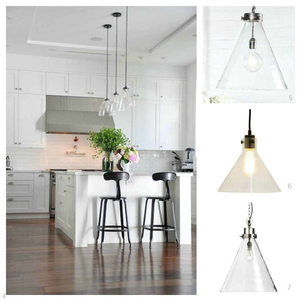 Glass Pendant Lights For The Kitchen