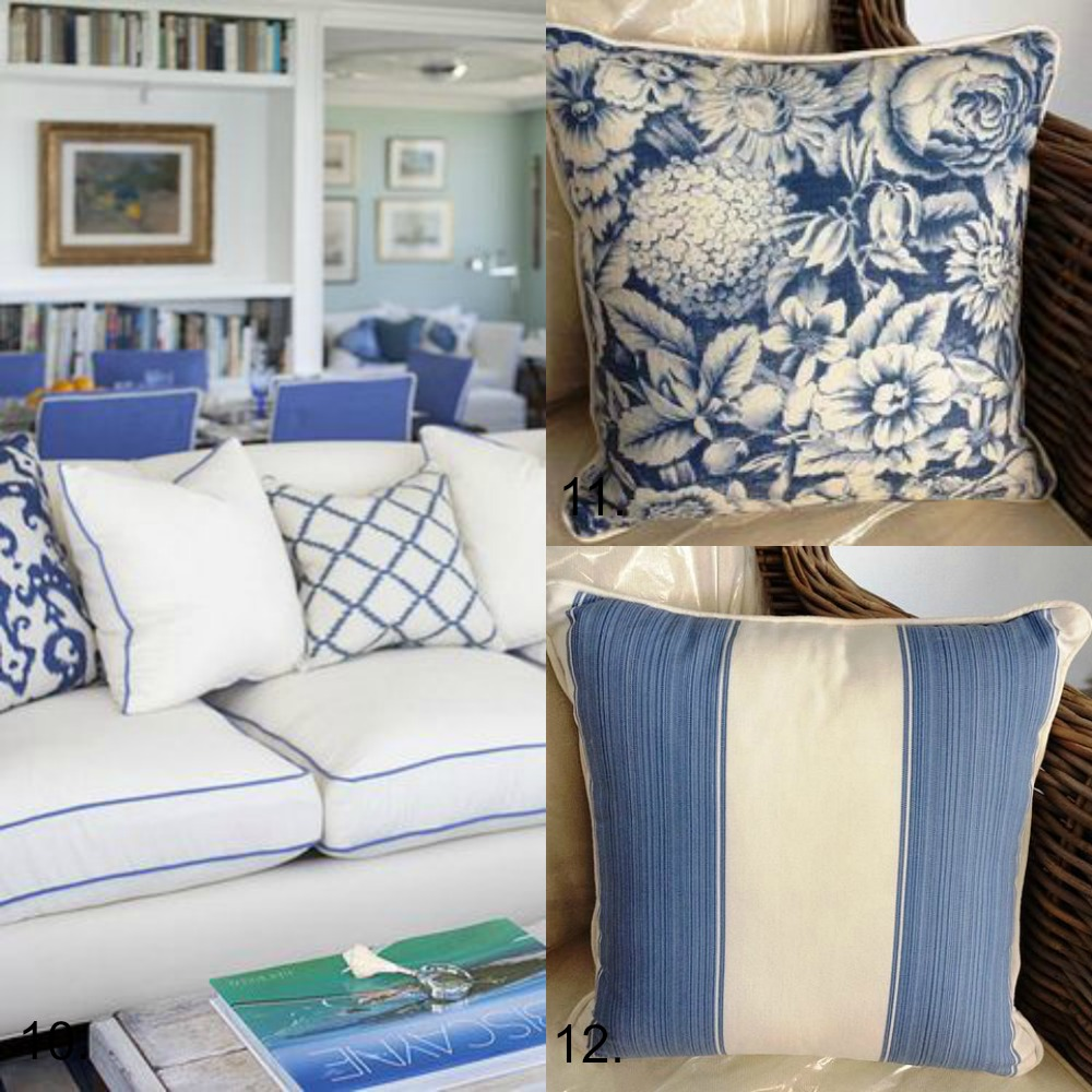 Blue And White Cushion Collection Hamptons Style Diy