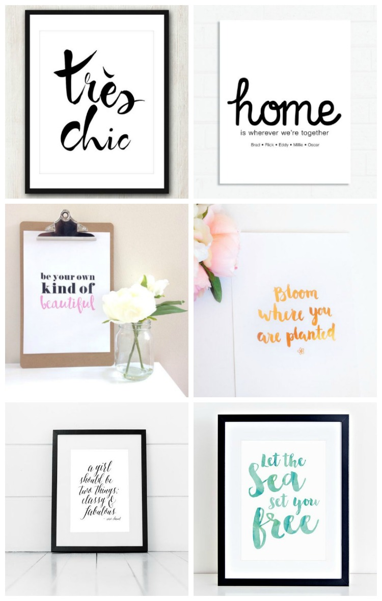 Ready made quote prints