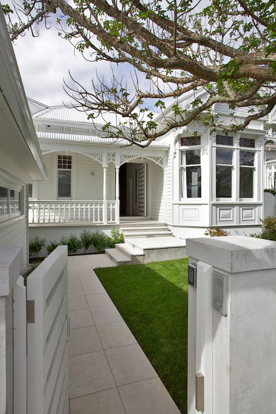 White Painted House Exterior Colour