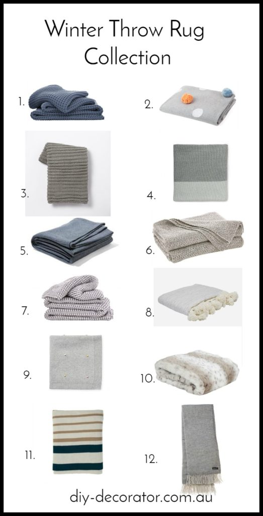 Winter throw rug collection