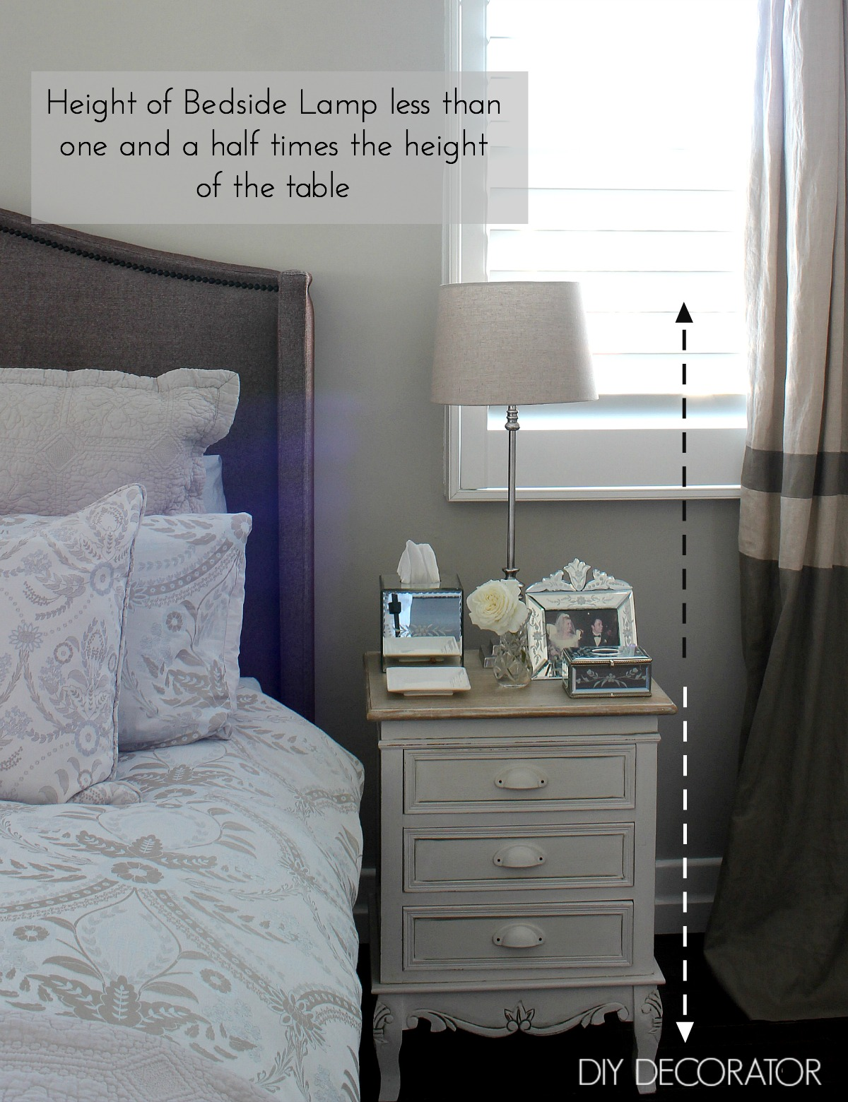 what is the right bedside lamp height - diy decorator