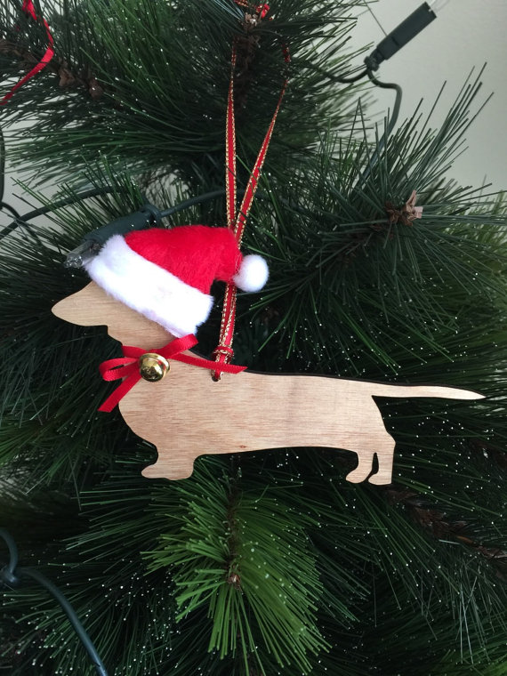 Handcrafted Christmas Decorations Dog