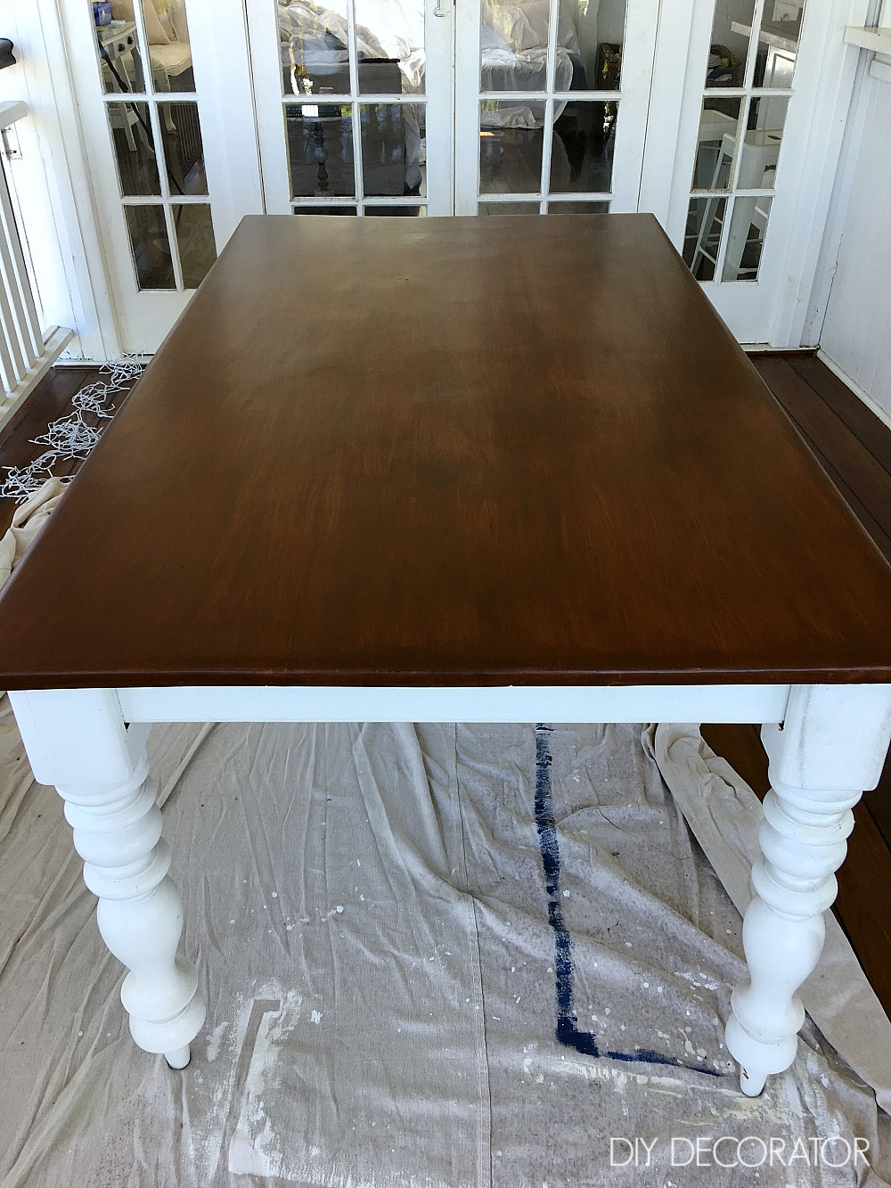 Refinish outdoor table