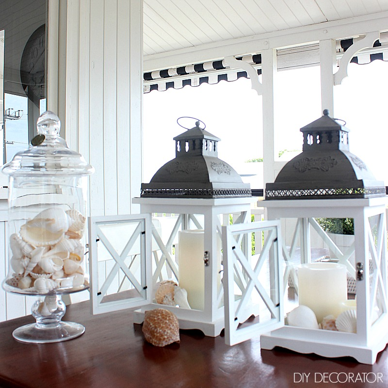What to put in a lantern coastal style decorations