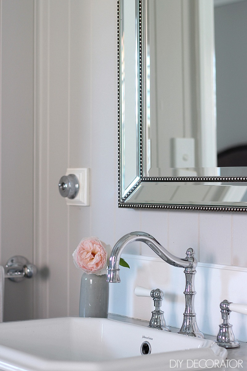 Classic ensuite reveal beaded mirror