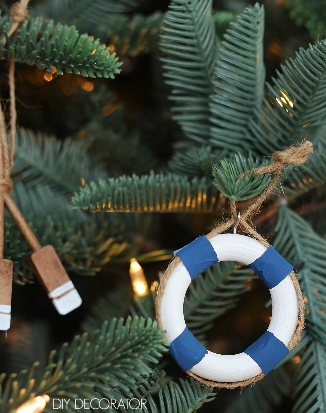 DIY mini Life buoy decorations