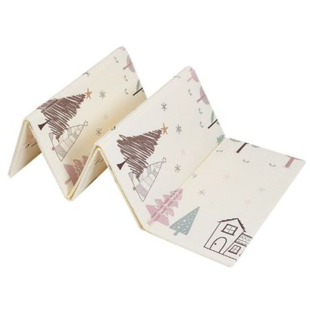 Складной Игровой Коврик 200х180×1 см  «Лисята и Снежный Лес»