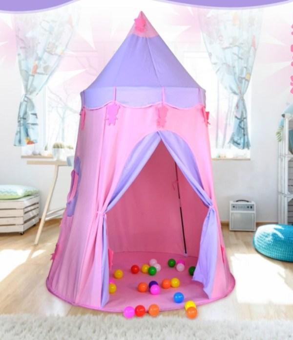 Игровой Домик Палатка «Розовый Замок с Медвежатами»