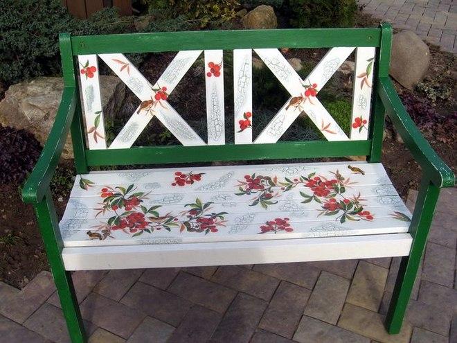 Garden Decorating Ideas Diy Garden Bench Makeover