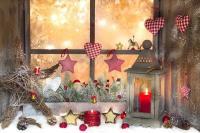 christmas-window-decorations-display-stars-candles-fabric ...