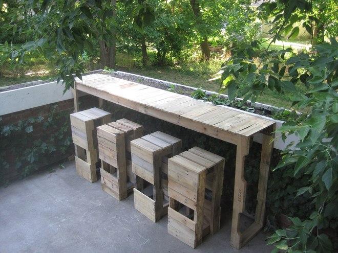 Diy Pallet Furniture Ideas Garden Bar Counter Stools